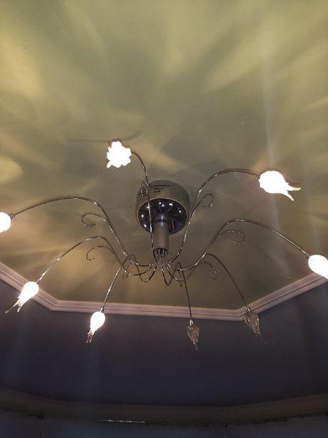 Lampa sufitowa z kloszami + 3 kinkiety