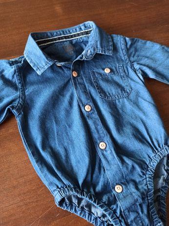 Koszulobody r. 62 jeansowe coolclub