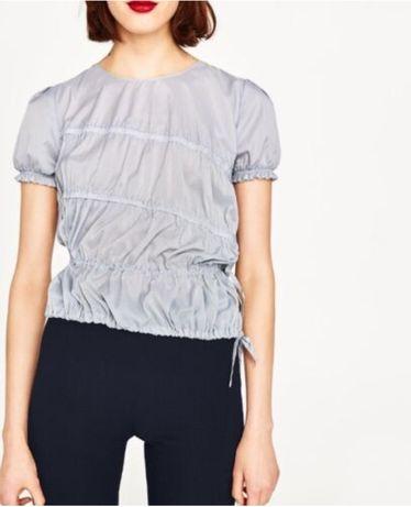 Стильная ассиметричная блуза ZARA basic