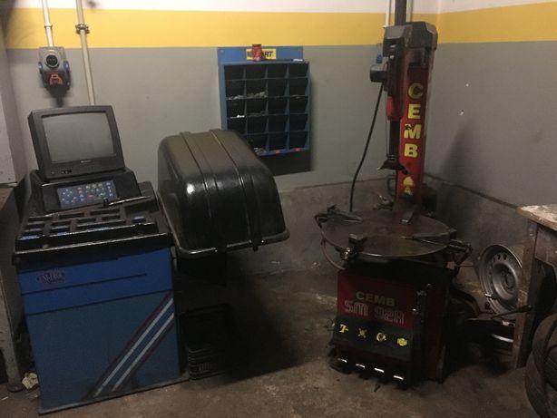 Wyważarka montażownica maszyny wulkanizacyjne zestaw