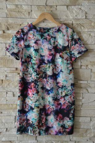 sukienka w kwiaty MOHITO, rozmiar S