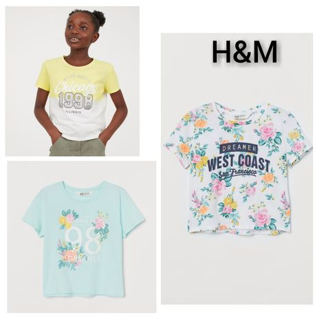 H&M р. 134-170 футболка топ h m hm h&m HM нм НМ зара Zara zara