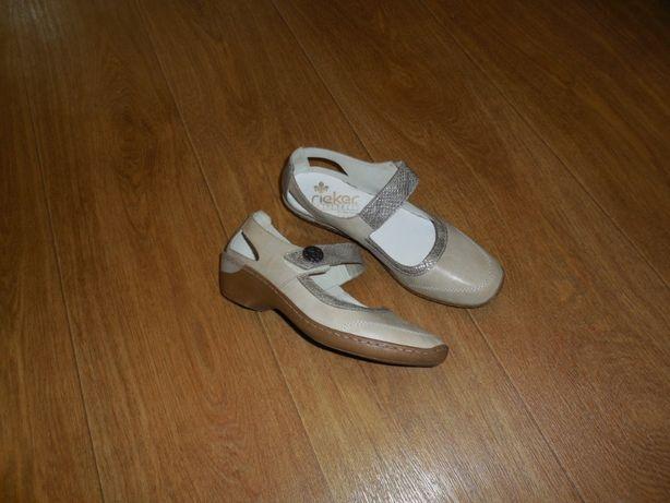 Продаю туфли- мокаксины *Rieker* кожа, р. 39.
