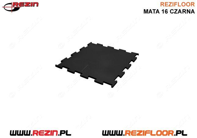 Mata gumowa 16 mm 500 x 500 / Siłownia / Dom i ogród podłoga REZIN