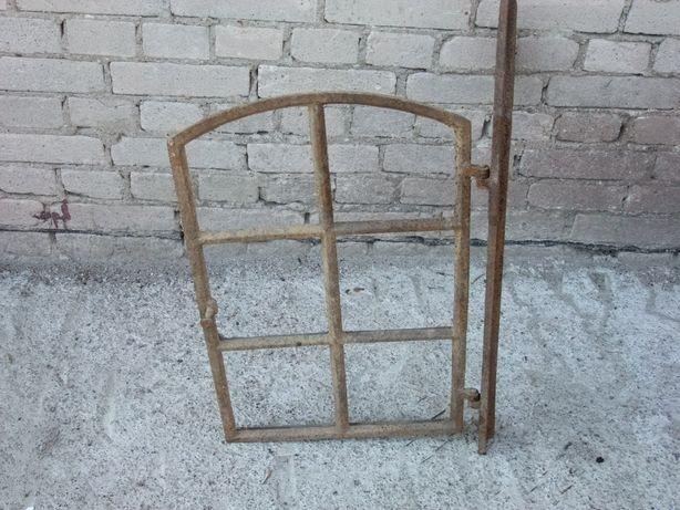 Element starego okna żeliwnego Antyk