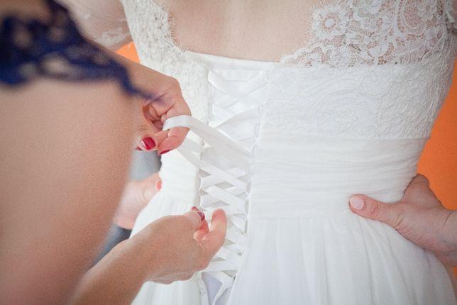Suknia ślubna - Śrem - rozmiar 40-42