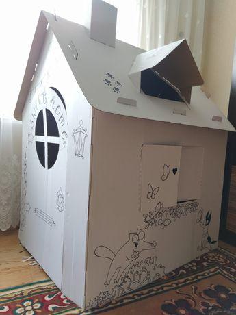 Домик будиночок картонный детский раскраска