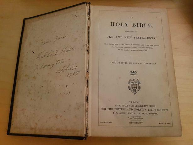 Bíblia Sagrada antiga/coleção ano 1885 Novo e velho testamento