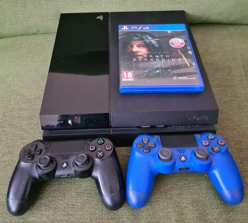 Playstation 4 + 2 pady + Death Stranding
