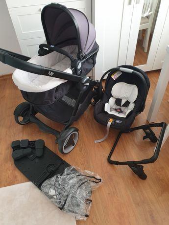 Chicco Fully Wózek Wielofunkcyjny  + nosidełko chicco + adapter