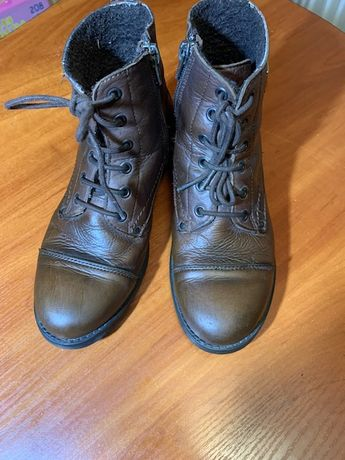 Ботинки коричневые на девочку осень весна since 1984 shoes collection