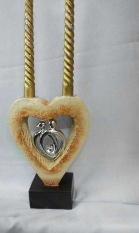 """Подсвечник """"Сердце"""" керамический на 2 свечи ."""