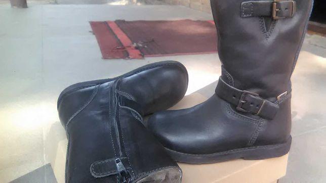 сапоги ботинки зимние кожа овчина очень теплые Бизгард Дания