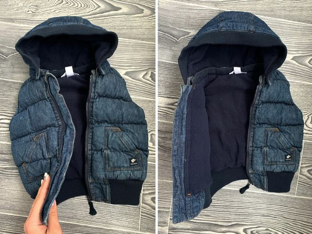 Детская, джинсовая жилетка-безрукавка дитяча; на ребёнка 6-12, 12-18м.