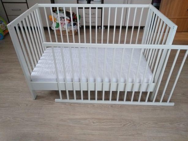 Łóżeczko Gulliver 60x120 cm + materac lateksowy do łóżeczka 120x60x10