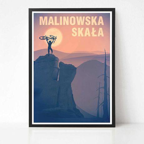 Plakat Szczyrk Malinowska Skała Rower mtb enduro