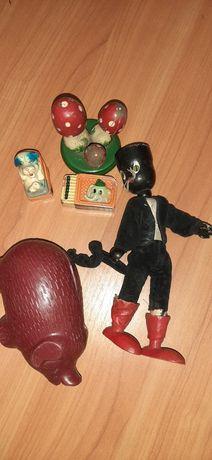 Stare zabawki z PRL temperpwka kot skarbpnla