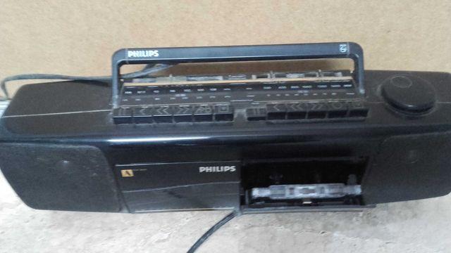 Radio magnetofon dwu kasetowy