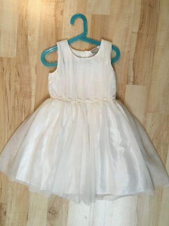 Name It - biała sukienka - rozmiar 6Y/116
