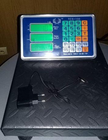 Електронна вага 30х40см (d o 1 5 0 k g )