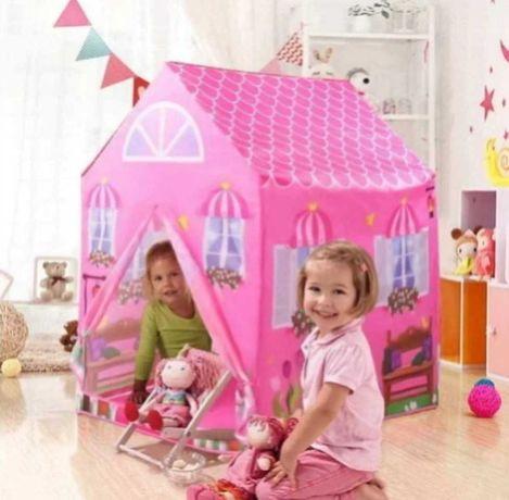 Палатка розовый домик принцессы раскладная компактная