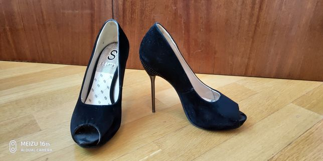 Замшевые туфли S.E.Lena 38 размер, каблук 8см