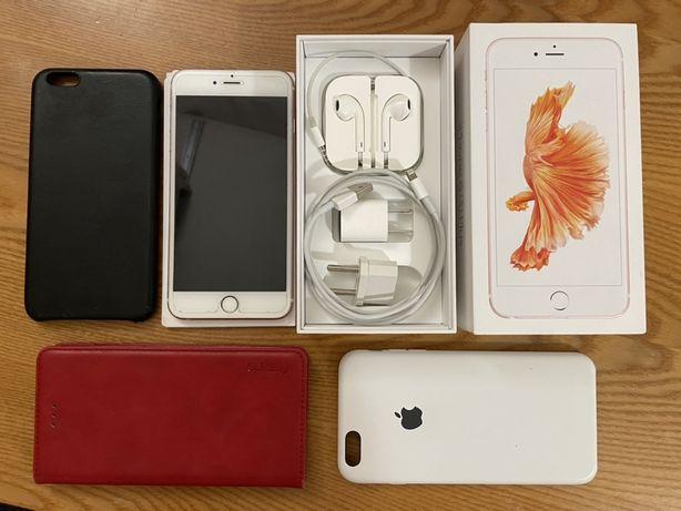 продам iphone 6s plus 128 gb розовый rose gold батарея 100%
