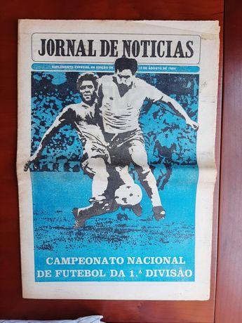 Suplemento antevisão época 1984-85 Futebol