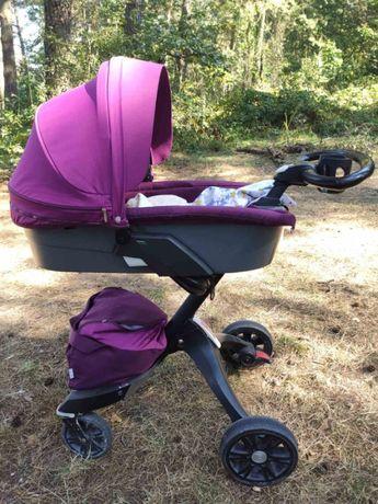 Дитяча коляска DSLand Xplory V6 2в1 Purple (Фіолетова)