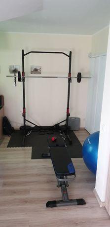 Stojak do treningu siłowego DOMYOS 500 + akcesoria