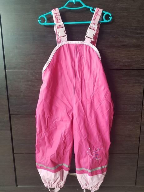 Różowe zimowe gumowane narciarskie spodnie Lupilu 86-92, 12-24 mies