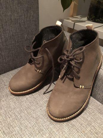 Buty skórzane zara r. 33 stan bdb brązowe chłopięce