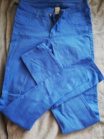Spodnie niebieskie damskie