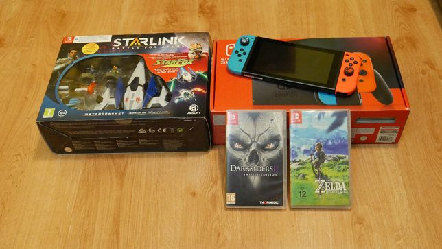 Nintendo Switch V2 + gry + gwarancja