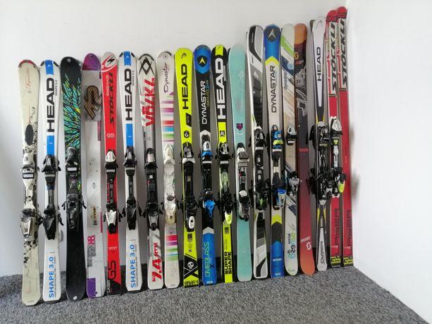 Wyprzedaż świetnych nart zjazdowych! Od pasjonata, carving, SL, GS
