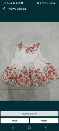 Nowa sliczna sukienka Primark kwiaty 68, 3-6 msc