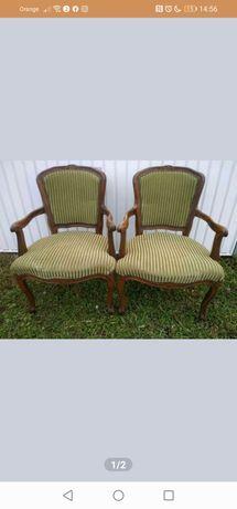 Komplet dwóch krzeseł w stylu Ludwik