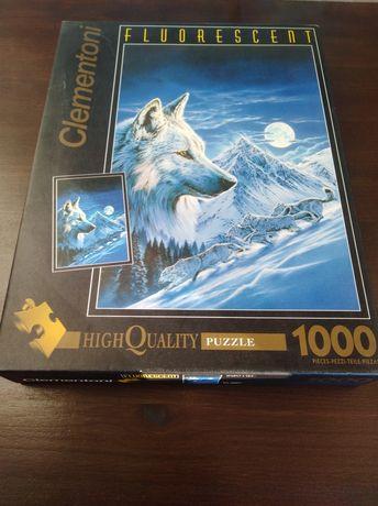 Пазлы Clementoni  Fluorescent 1000 деталей. Волк.