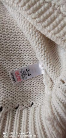 Sweterek George 98-104 kremowy