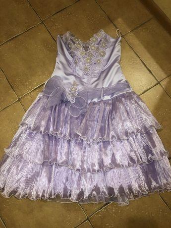Детское выпускное вечернее платье на девочку 10-12 лет
