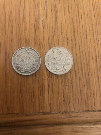 Продаються монети Швейцарська 1/2 франка