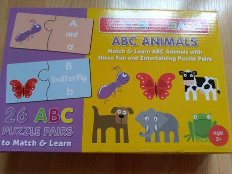 Match&Learn ABC Animals Puzzle - zwierzątka