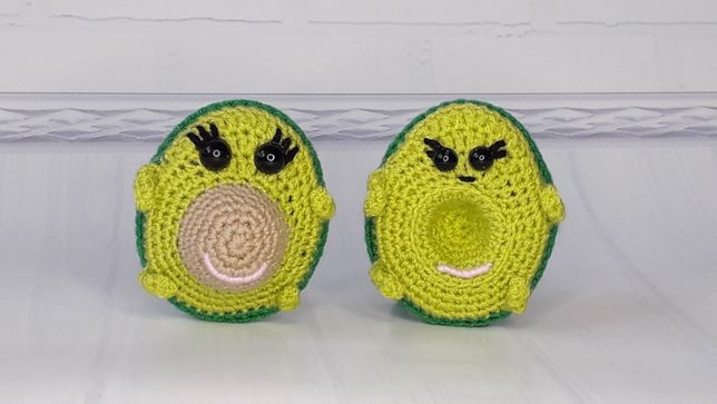 Авокадо - вязанные игрушки, амигуруми