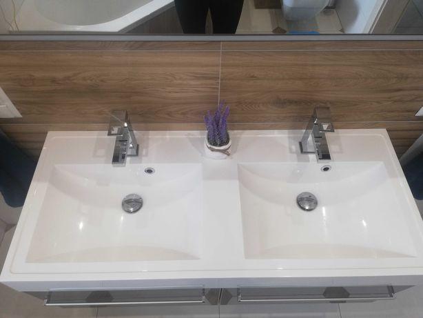 Umywalka łazienkowa dwukomorowa!! 120cm