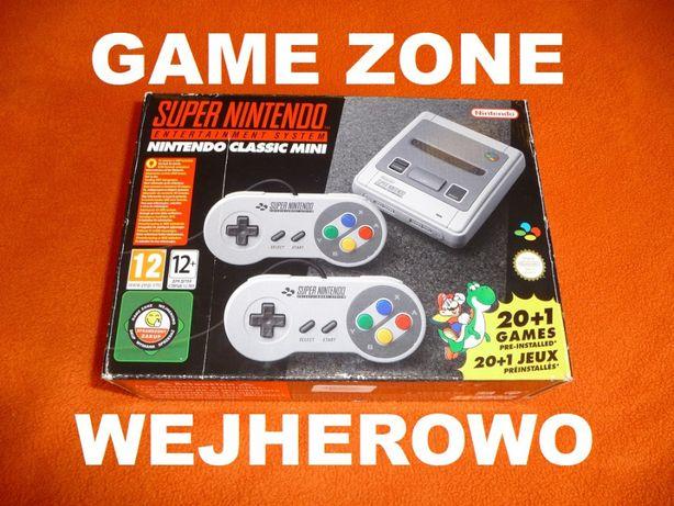 Nintendo Snes Mini + 2 pady + 280 gier Nes/Pegasus/Sega/Atari + Plecak