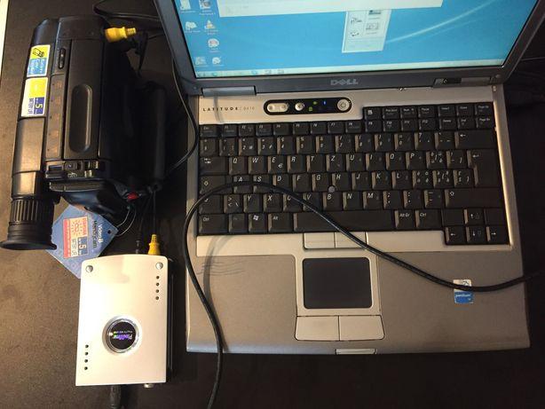 Camara Sony video8 e PC Sistema de cópia para digital.