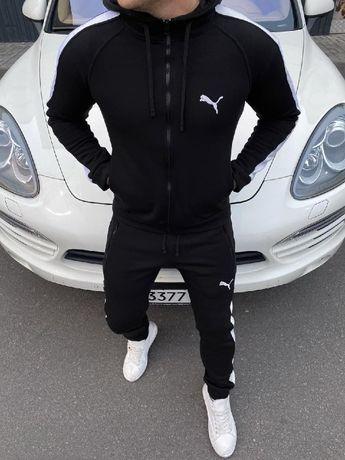 Теплый спортивный костюм Puma лампас, спортивний костюм на зиму