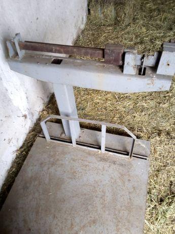 Механические весы платформа, ваги 1000 кг.
