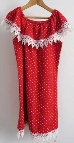 Vestido Vermelho c/ Bolinhas 7 Anos