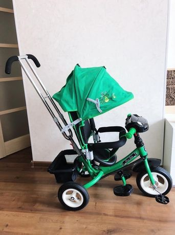 Велосипед трехколесный на надувных колесах Mars Mini Trike Зелено-черн